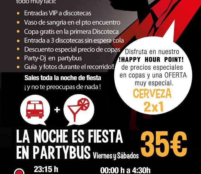 PartyBus Noche y Tapas
